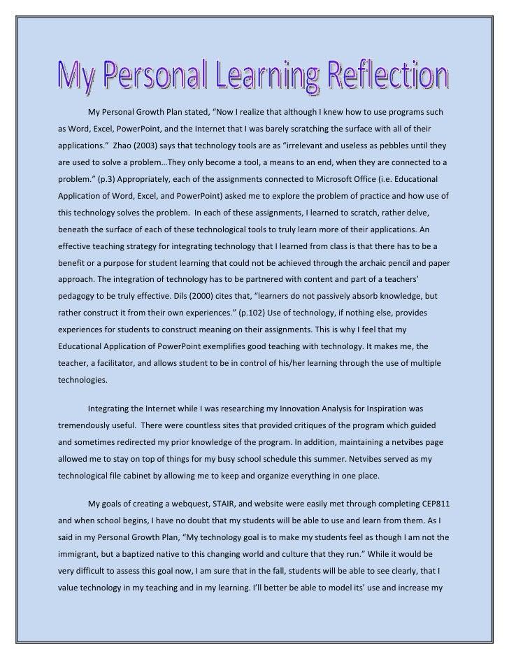 Reflective Essay Sample