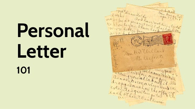 Personal Letter 101