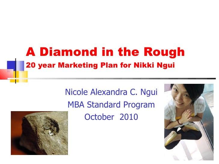 A Diamond in the Rough 20 year Marketing Plan for Nikki Ngui Nicole Alexandra C. Ngui MBA Standard Program October  2010
