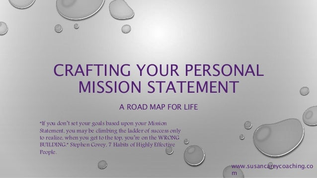 Sample Personal Mission Statement Template Personal Mission Statement