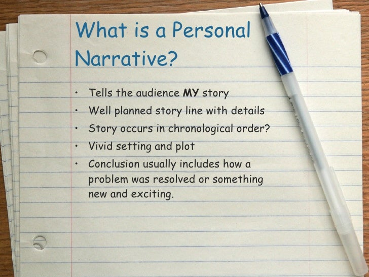 teaching the personal narrative essay