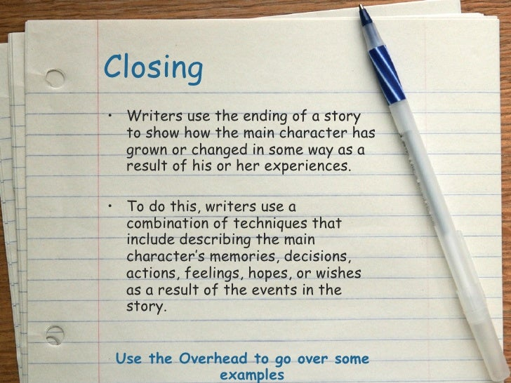 ending a narrative essay Detailed writing lessons for  the personal narrative  day 1: starting the writing workshop  by students to collect ideas for writing, store personal entries.