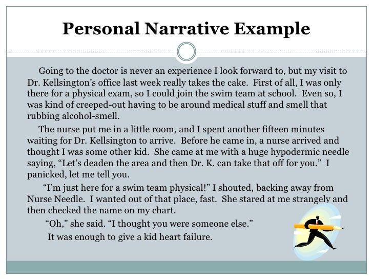 short narrative essay samples Narrative report (on the job trainee) sample for free on studymoose example of introduction in narrative report (ojt) сlick here to learn more.