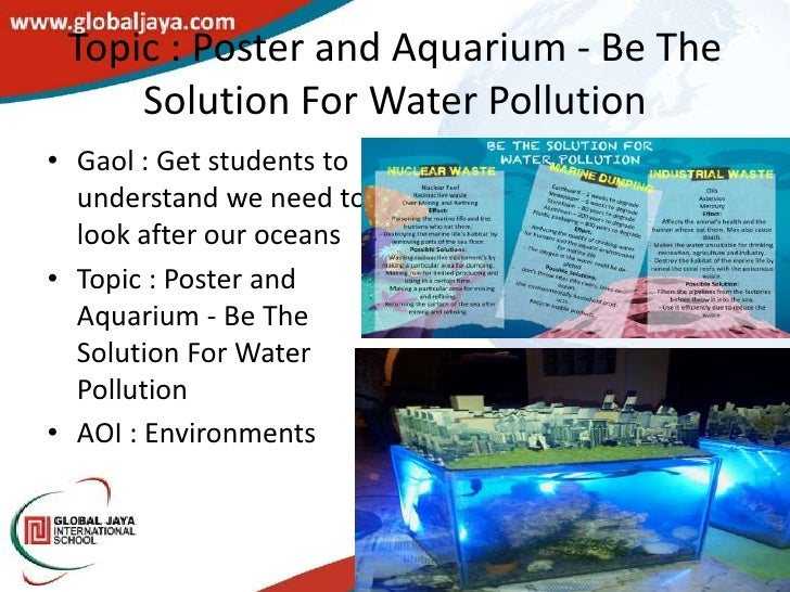 solution to water pollution essay