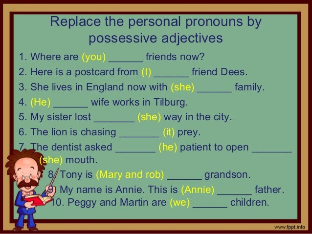 possessive adjectives and pronouns exercises for beginners pdf