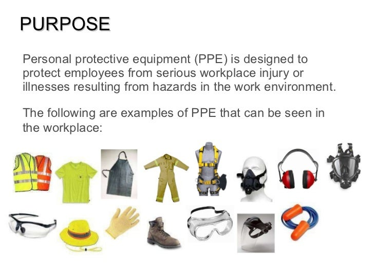 what does personal protective equipment do