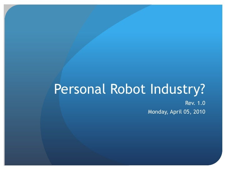 Personal robot industry v3