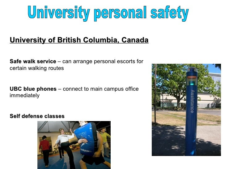 Personal safety at University