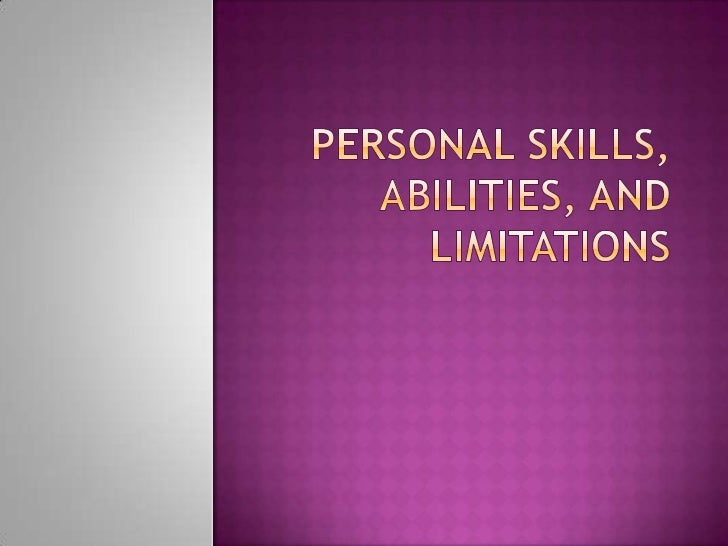 personal abilities natural abilities in real life what does ...