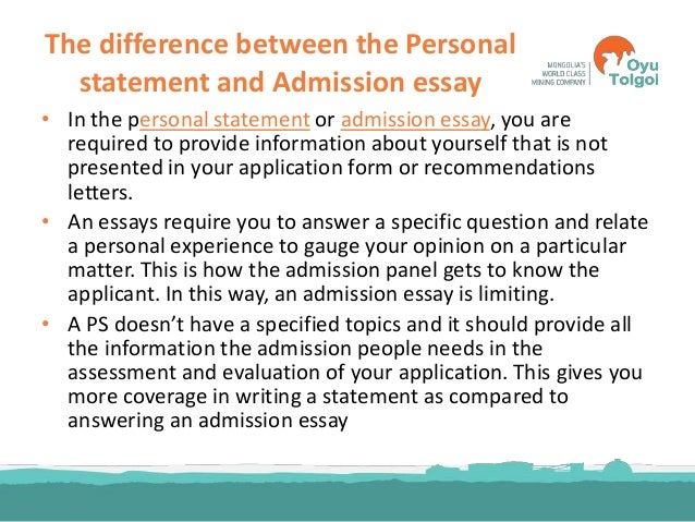 Personal statement employer