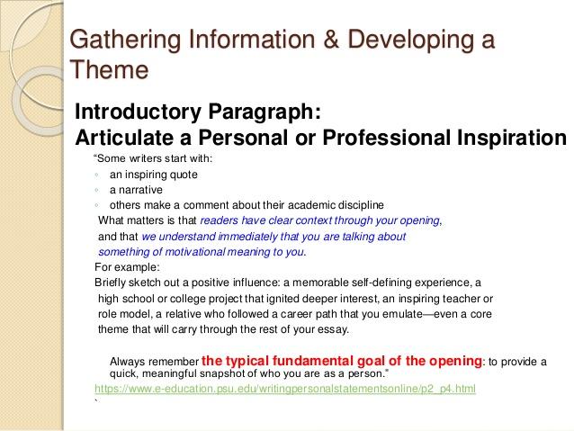 personal statement advice psychology