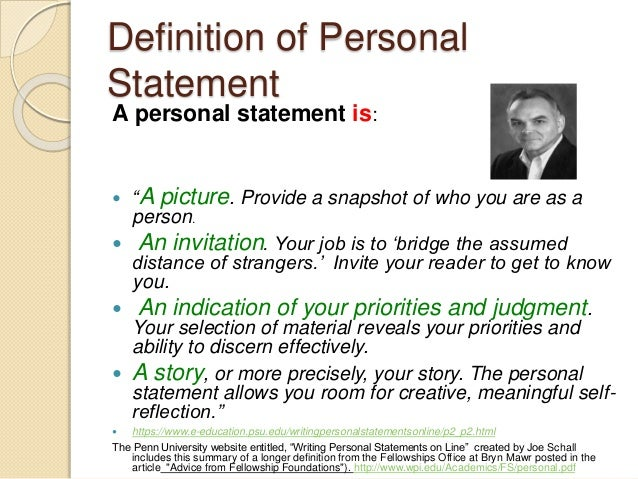 a personal statement is best defined as