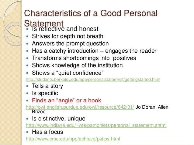Characteristics of a personal essay