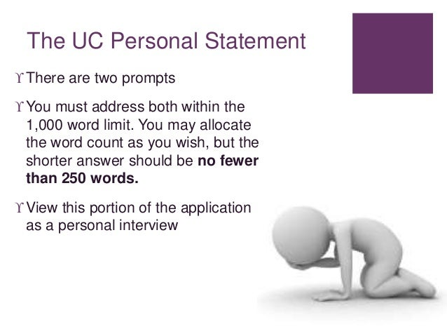 What did you write for your UC personal statement?