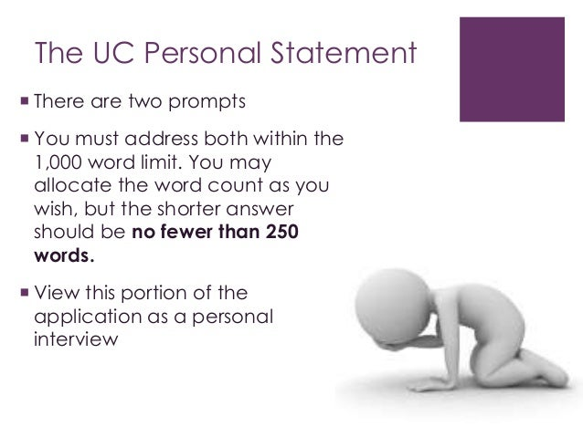 Word limit for personal statement
