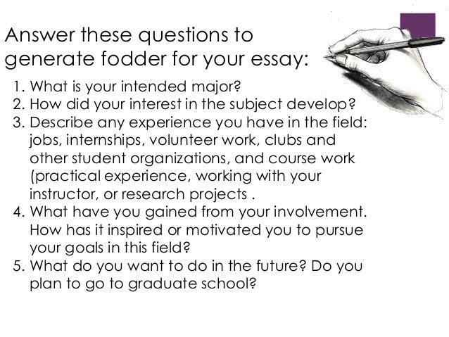 Vcu application essay question