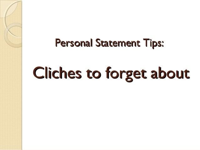 Personal statement starters
