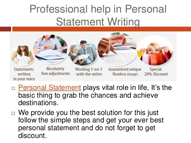 Professional personal statement writers