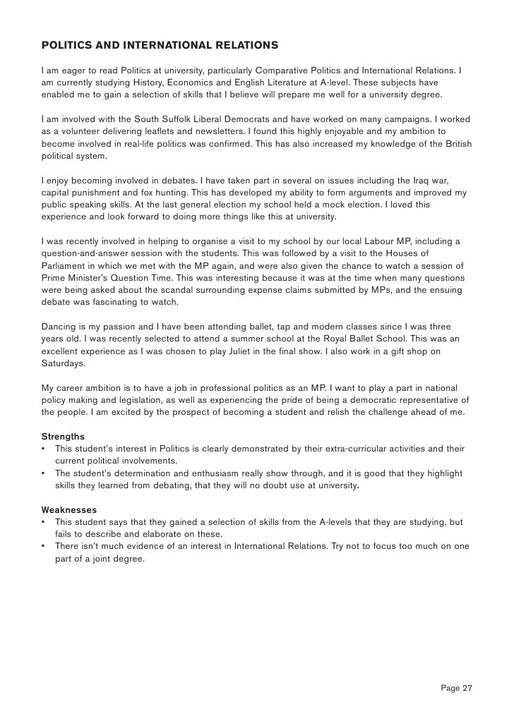 Help with writing personal statement literature