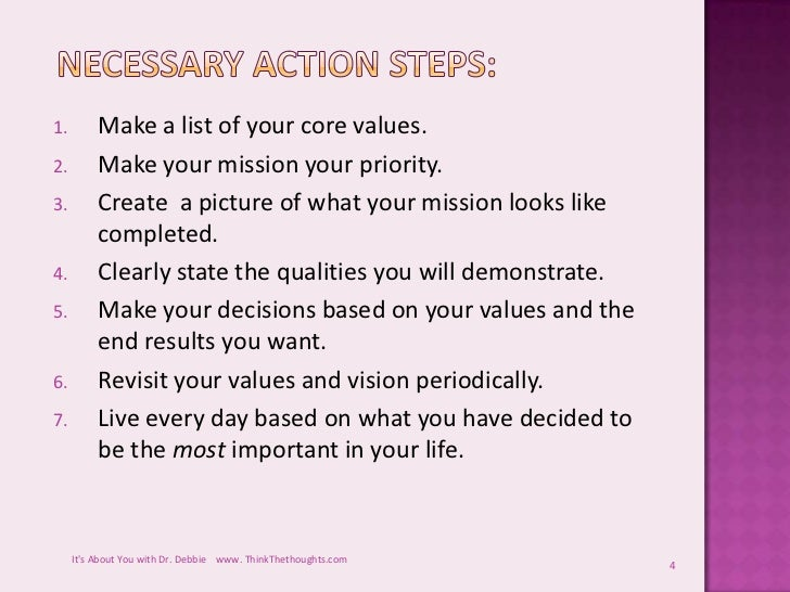 Give a statement of your personal values.?