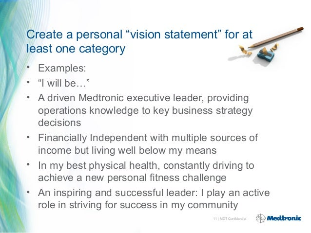 great personal vision statements examples