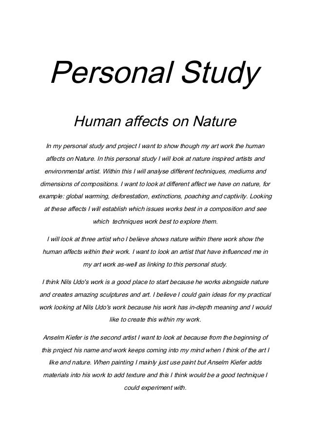 a2 art personal study essay The 31 benefits of gratitude you didn't know about: how gratitude can change your life we provide excellent essay writing service 24/7 see newer edition of this.