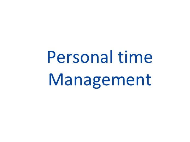Personal timeManagement