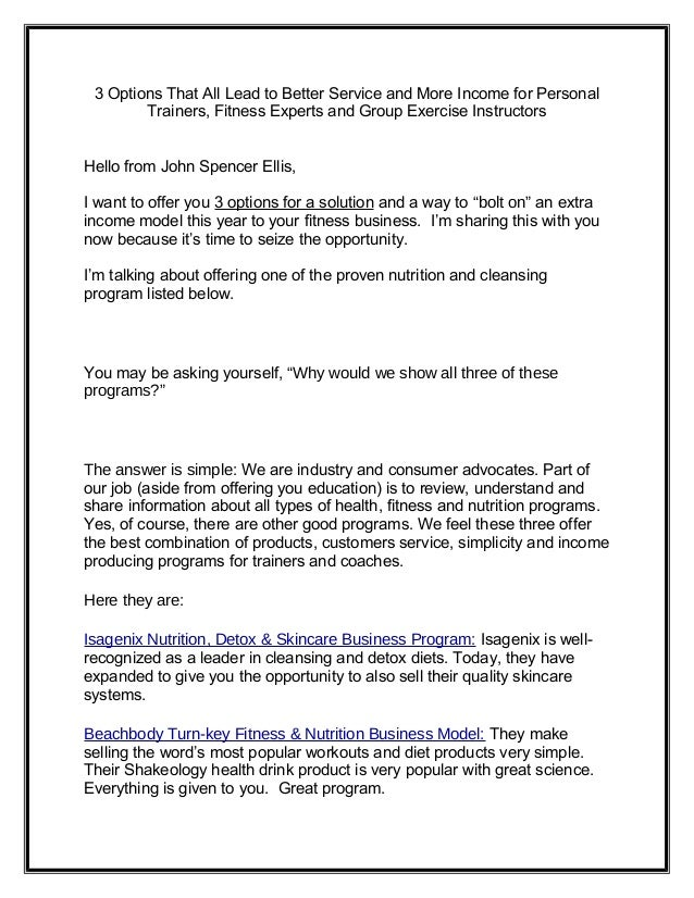 Personal Trainer Nutrition Business Models