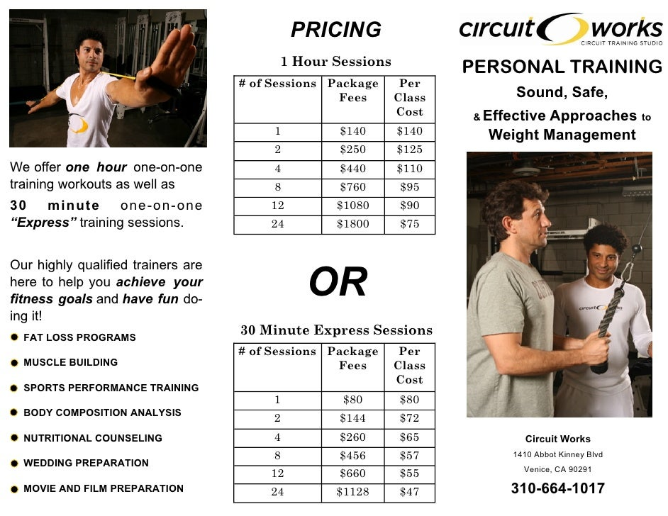 Circuit Works Personal Training Brochure
