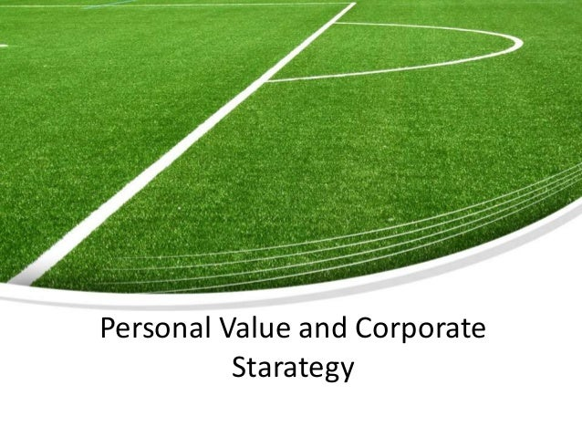 Page  1Personal Value and CorporateStarategy