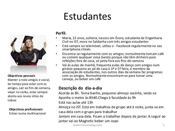 Estudantes                                 Perfil:                                 •     Maria, 22 anos, solteira, nasceu ...