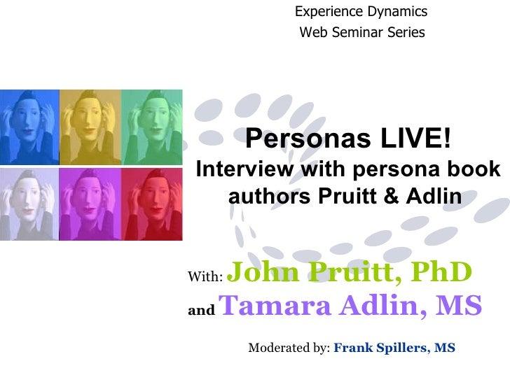Personas Live Web Seminar Final 9 11