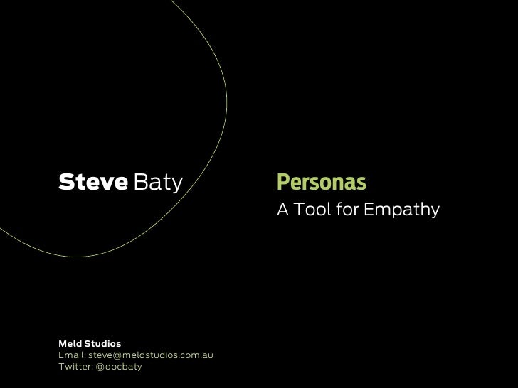 Personas   tool for empathy