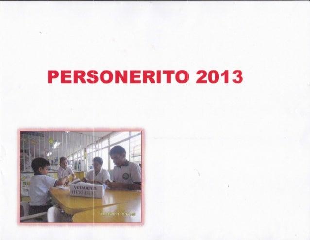 Personerito propuestas