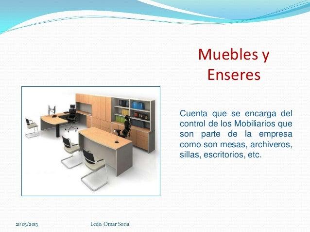 Personificacion de cuentas for Muebles de oficina que cuenta es