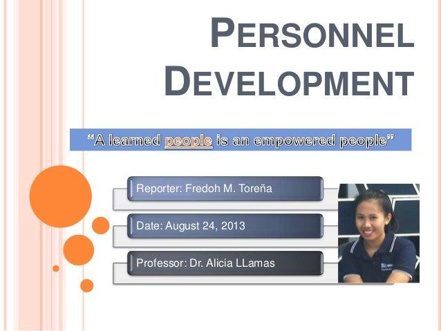 Personnel development final revision