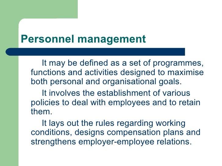 Personnel management