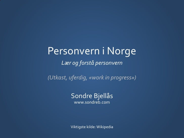 Personvern i Norge