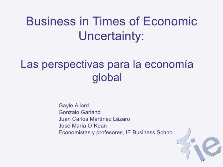 Perspectivas de la Economía Global