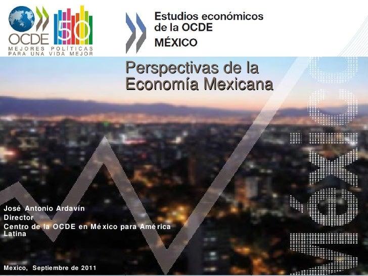 Perspectivas de la Economía Mexicana José Antonio Ardavín Director Centro de la OCDE en México para América Latina Mexico,...