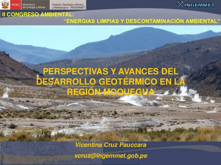 """II CONGRESO AMBIENTAL:                   """"ENERGIAS LIMPIAS Y DESCONTAMINACIÓN AMBIENTAL""""           PERSPECTIVAS Y AVANCES ..."""