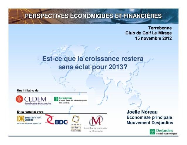 Perspectives economiques2013