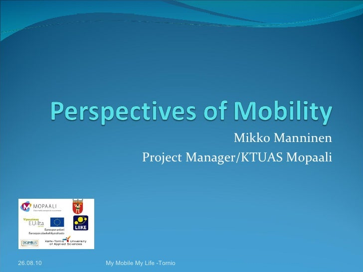 Perspectives of mobility