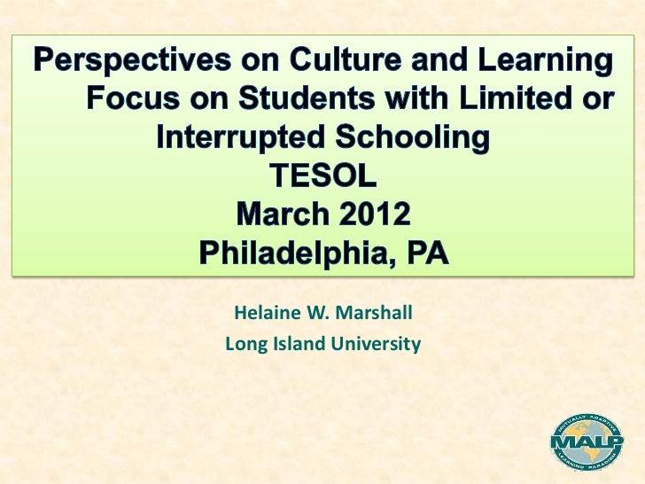 Helaine W. MarshallLong Island University