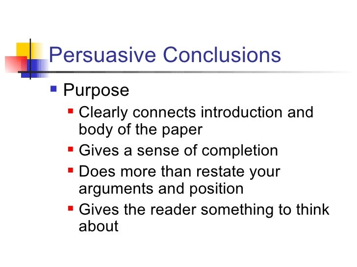 How to Write Conclusions for Persuasive Speeches