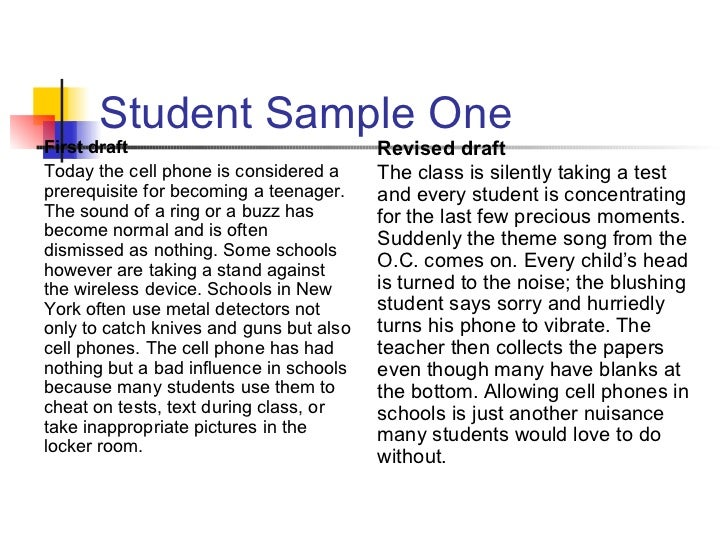 Classification essay cell phones