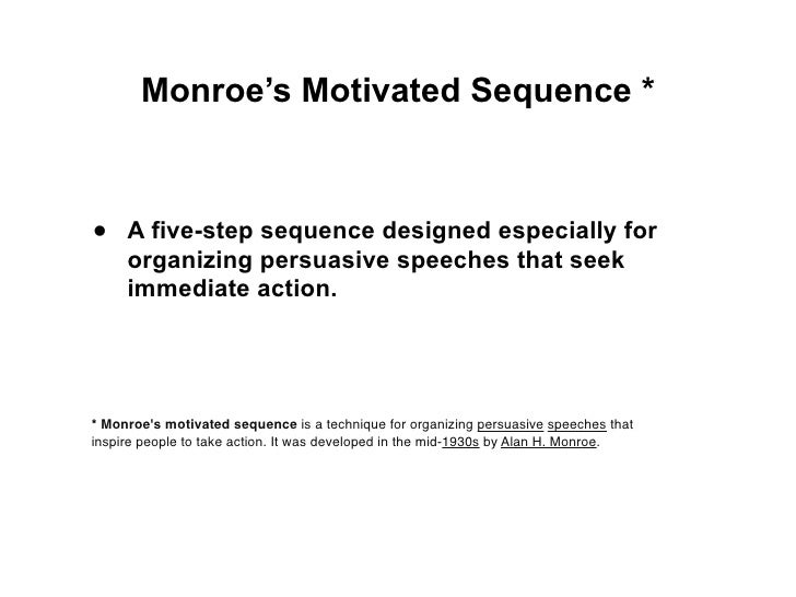 monroes motivated sequence speech essay