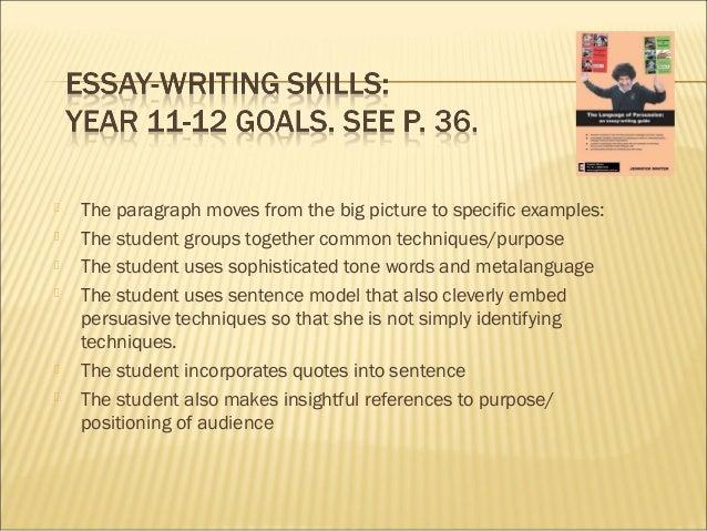 Essay persuasion write