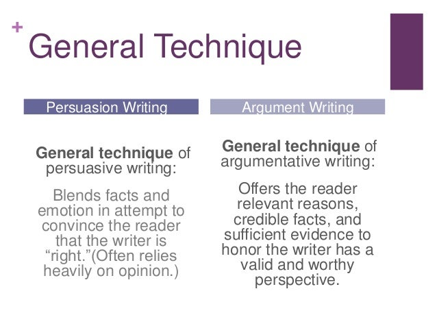 Argument vs persuasion essay