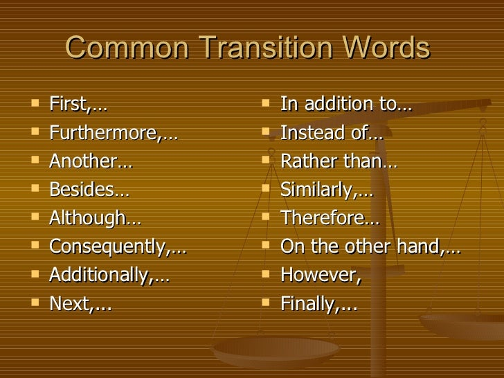 persuasive essay transitional words We should probably start by asking ourselves what are transition words and what value do they add to an essay you need to connect ideas in your essay to improve readability.